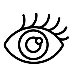 girl eye icon outline style vector image