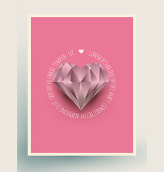 Glacier diamond heart vector