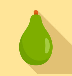 green papaya icon flat style vector image
