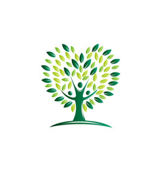 Green tree health and growth vector