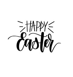 Happy easter digital brush calligraphy vector