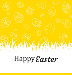 happy easter egg background and wallpapers vector image vector image