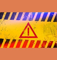 hazard warning attention sign dangerous area vector image
