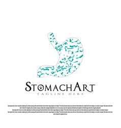 Human stomach care logo design vector