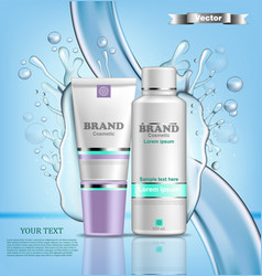 hydration water cosmetic set realistic vector image