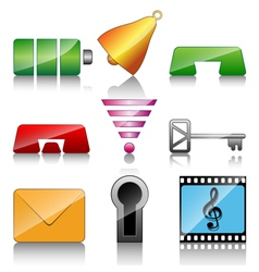 Icons for mobile phone vector image