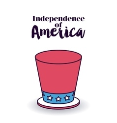 Independence of america design vector