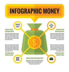 Infographic money dollar - concept scheme vector image