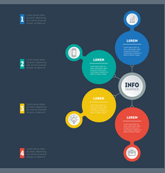 infographics technology or education process vector image