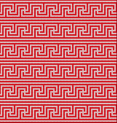 Knitted greek seamless texture vector