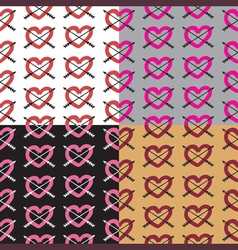 Love set seamless pattern romantic elements vector