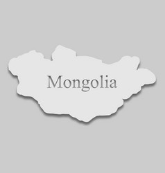 Map mongolia vector