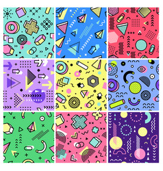 memphis pattern geometrical designs abstract vector image