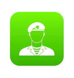 modern army soldier icon digital green vector image