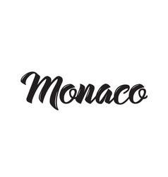Monaco text design calligraphy vector