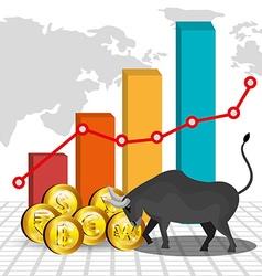 Money and global economy vector