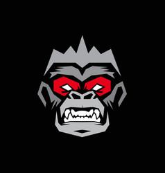 monkey logo vector image