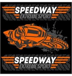Motorcycle - extreme sport Emblem vector
