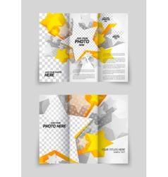 Orange stars brochure vector