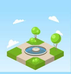park isometric vector image