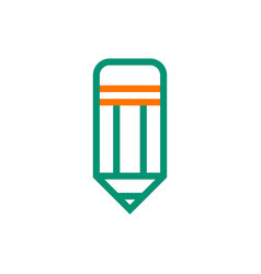 Pencil icon on white background vector