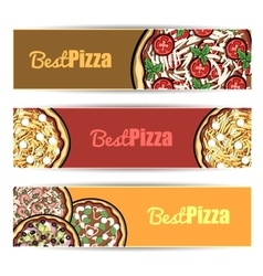 PizzaBanners3 vector image