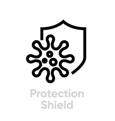 Protection shield antivirus editable icon vector