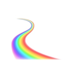 Rainbow curved line iconrealistic style vector image