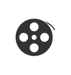 reel film icon flat vector image