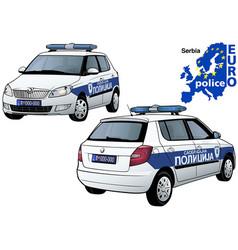 serbia police car vector image