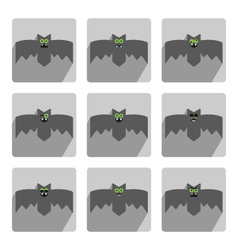 Set of bats decorative icons for Halloween vector