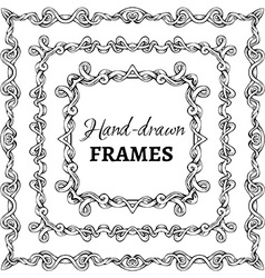 Set of square vintage frames vector