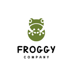 simple frog logo vector image