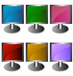 Six monitors vector