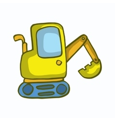 Small excavator cartoon design for kids vector image