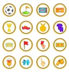 Soccer set cartoon style vector
