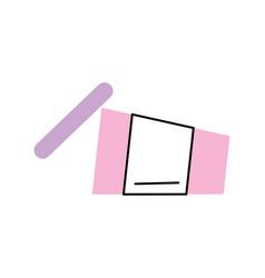 Soda plastic cup icon vector