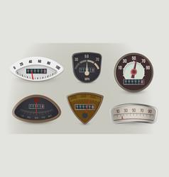 Speedometers speed gauges realistic vector
