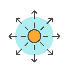 Spreading symbol color icon vector