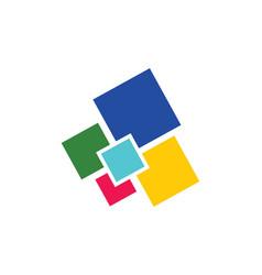 Square colored digital logo vector