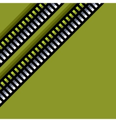 Steel techno tubes pattern with an green backlight vector
