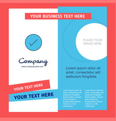 tick company brochure template busienss template vector image