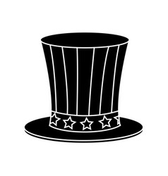Top hat celebration party national decoration vector