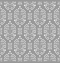 Tribal ornament seamless pattern vector