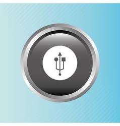 Usb device design vector