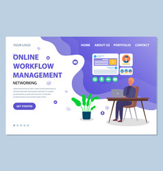 website management template the man at table vector image
