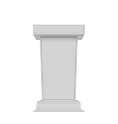 white tribune rostrum stand vector image