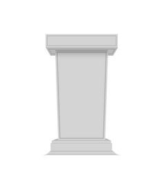 White tribune rostrum stand vector