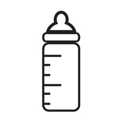 baby bottle icon isolated on white background vector image