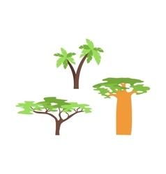 Baobab tree isolated on white vector image